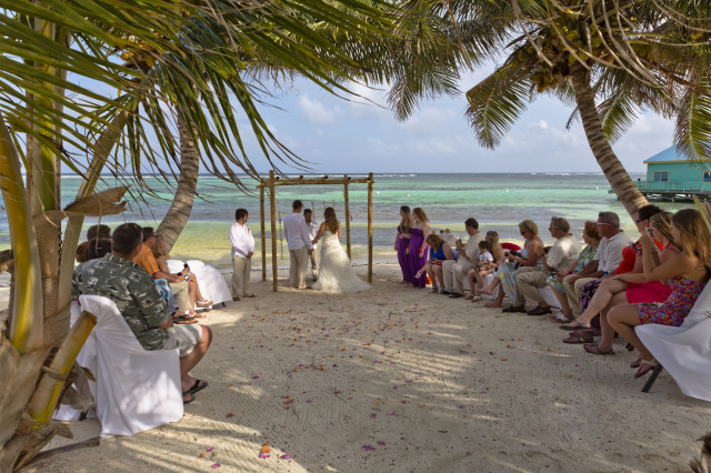 Belize Beach Wedding with Zapata photographer with Belize Wedding planner romantictravelbelize.com