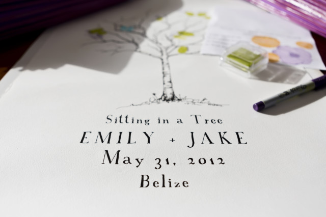 wedding invitations in belize with Belize Wedding Planner romantictravelbelize.com