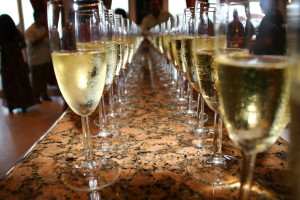champagne for the reception with wedding planner romantictravelbelize.com