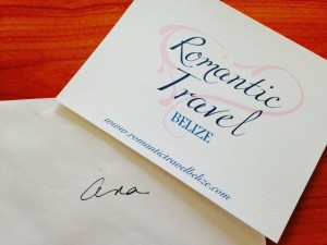 Invitation card offered by romantictravelbelize.com