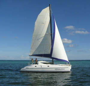 Day time water trips include sailing with romantictravelbelize.com